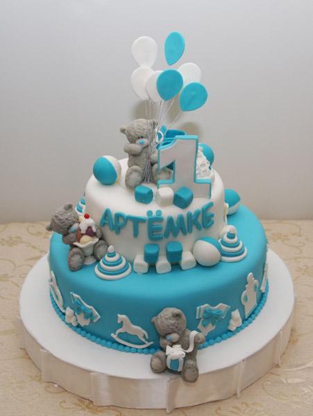 Детские торты на 1 день рождения фото
